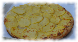 Pizza con patate - impasto casereccio